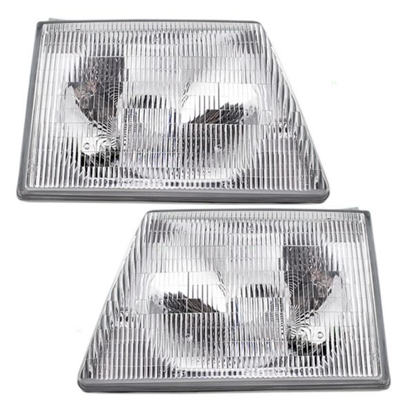 Fleetwood Jamboree (Class C) Replacement Headlight Assembly Pair (Left & Right)