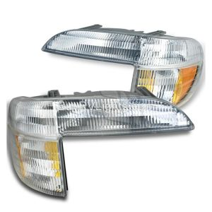 Airstream Skydeck Corner Turn Signal Lamps Unit Pair (Left & Right)