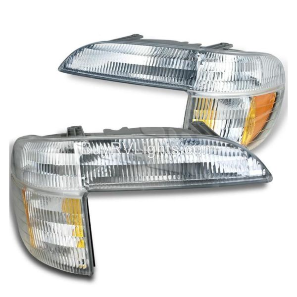 Alfa See Ya Gold Corner Turn Signal Lamps Unit Pair (Left & Right)