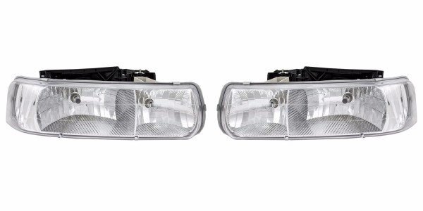 Winnebago Chalet (Class A) Diamond Clear Headlights Assembly Pair (Left & Right)