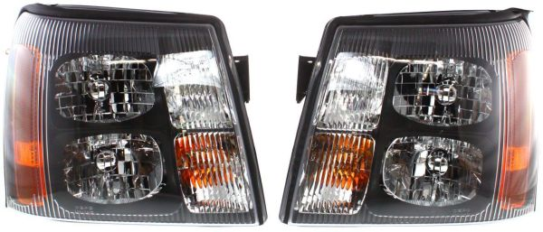 Thor Motor Coach Challenger Performance Black Headlights Assembly Pair (Left & Right)