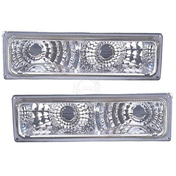 Monaco Dynasty Diamond Clear Turn Signal Light Lens & Housing Pair (Left & Right)