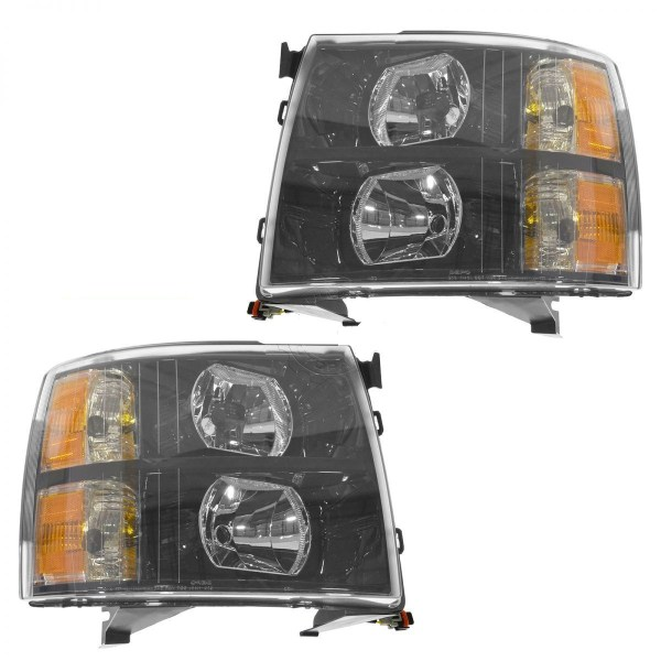 Thor Motor Coach Outlaw Performance Black Headlights Unit Pair (Left & Right)