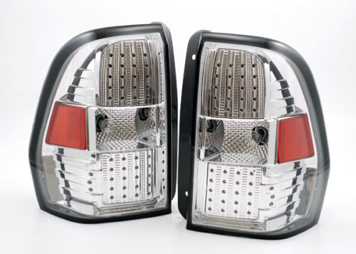 Newmar King Aire Upper Chrome LED Tail Light Assembly Pair (Left & Right)