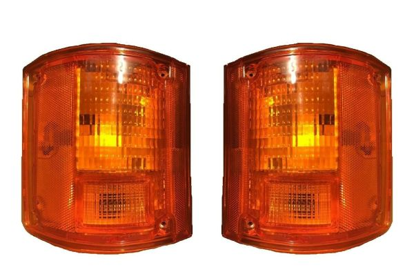 National RV Surf Side Replacement Rear Turn Signal Light Lens & Housing Pair (Left & Right)