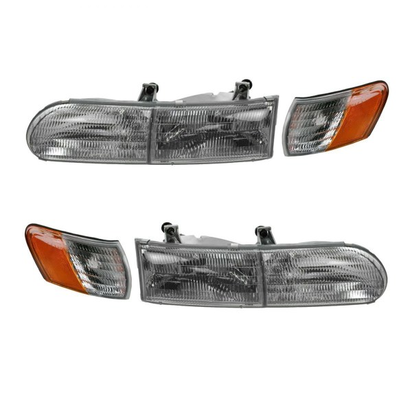 Forest River Reflection Replacement Headlights and Corner Turn Signal Lamps (4 Piece Set) (Left & Right)
