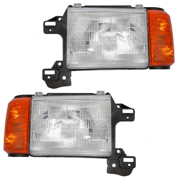 Fleetwood Pace Arrow Replacement Headlight & Corner Light Assembly Pair (Left & Right)