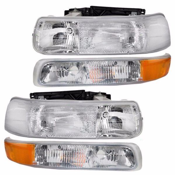 Winnebago Chalet (Class A) Replacement Headlights & Turn Signal Lamps Assembly Pair (Left & Right)