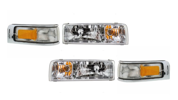 Damon Intruder Headlights Assembly & Signal Lights 4 Piece Set (Left & Right)