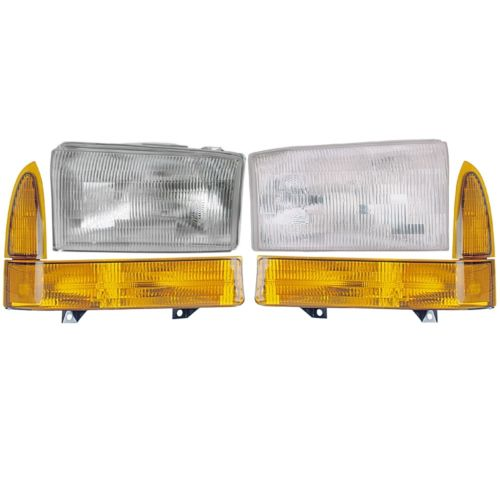 Tiffin Zephyr Replacement Headlights & Signal Lamps 4 Piece Set (Left & Right)