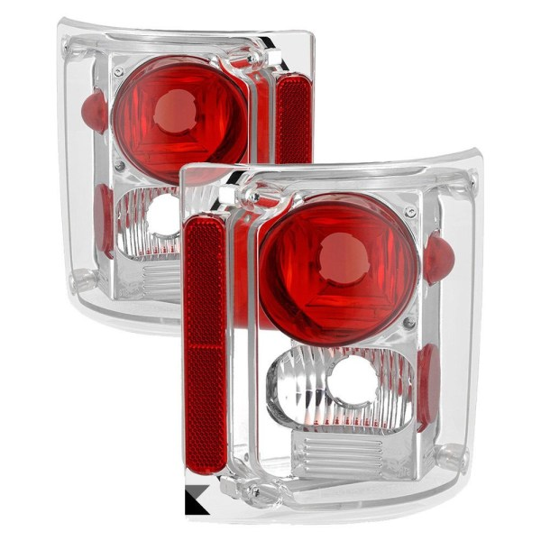 National RV Surf Side Upper Performance Chrome Tail Light Lens & Housing Pair (Left & Right)