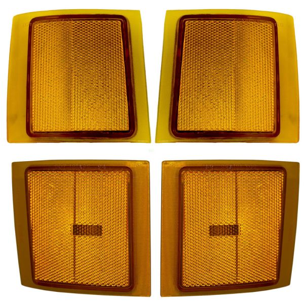 Fleetwood Discovery Upper & Lower Side Marker Lights 4 Piece Set (Left & Right)