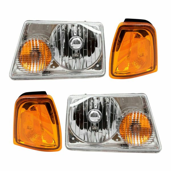 Winnebago Voyage Headlights & Signal Lamps 4 Piece Set (Left & Right)
