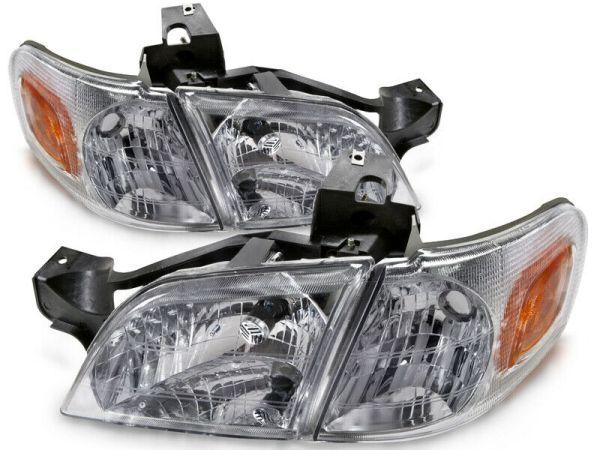 Fleetwood Fiesta Replacement Headlight Assembly & Turn Signal Corner Light 4 Piece Set (Left & Right)