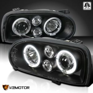 Itasca Sunflyer Black Projector LED Headlight Assemblies Pair (Left & Right)