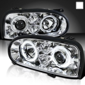 Itasca Sunflyer Chrome Projector LED Headlight Assemblies Pair (Left & Right)