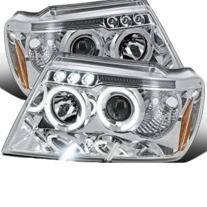Holiday Rambler Imperial Chrome Projector LED Headlight Assembly Pair (Left & Right)