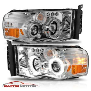 Four Winds Windsport Chrome Projector LED Headlights Assembly Pair (Left & Right)