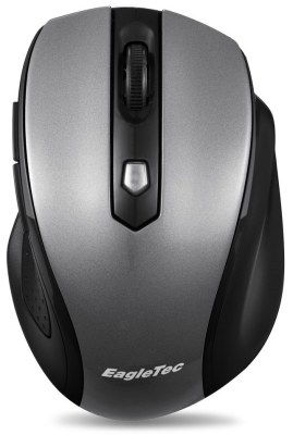 EagleTec MR5M2509 2.4GHz Wireless Optical Mouse, Switchable DPI 1000/1500/2000,5 Buttons, Nano USB Receiver (Metallic Grey Color)