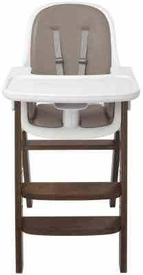 OXO Tot Sprout Wooden Chair,Taupe/Walnut
