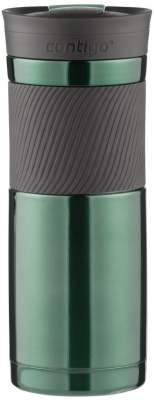Contigo SnapSeal Vacuum-Insulated Stainless Steel Travel Mug, 20-Ounce, Greyed Jade