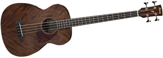 Ibanez PCBE12MH Grand Concert Acoustic-Electric Bass Guitar Open Pore Mahogany Top