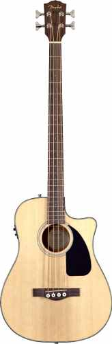 Fender CB-100CE Dreadnought Cutaway Acoustic-Electric Bass - Natural