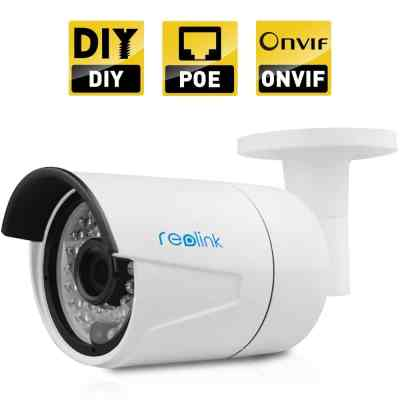 Reolink RLC-410 4-Megapixel 1440P 2560x1440 POE Security IP Camera Outdoor Waterproof Bullet, Night Vision 65-100ft, Viewing Angle 80°, E-mail Alert, FTP upload, ONVIF