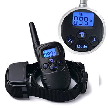 Petiner 330 Yards Rechargeable LCD Remote Shock Pet Dog Training Collars No Bark Collar