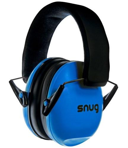 Snug Safe n Sound Kids Earmuffs / Hearing Protectors - Adjustable Headband Ear Defenders For Children and Adults (Original Blue)