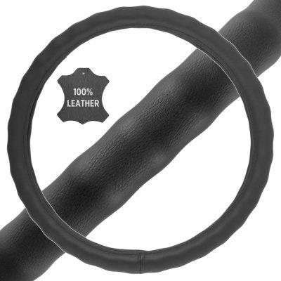 BDK Genuine Leather Steering Wheel Cover
