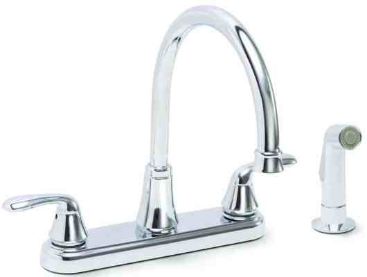 Premier Faucet 126967 Waterfront Lead Free Two-Handle Kitchen Faucet with Spray