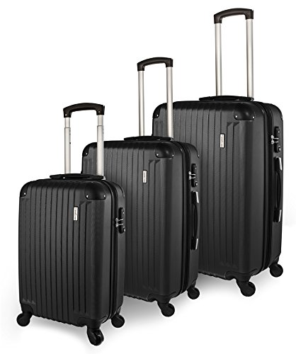 TravelCross Columbia Luggage 3 Piece Lightweight Spinner Set