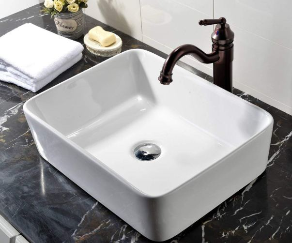 VCCUCINE Rectangle Above Counter Bathroom Vessel Vanity Sink