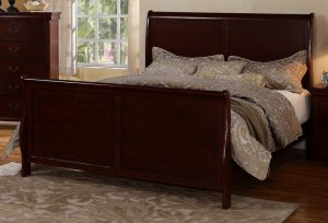 Poundex F9231Q Sleigh Bed