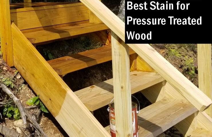 Best Semi Transparent Deck Stain For Pressure Treated Wood   Pressure Treated Wood Stairs   L Shaped   Exterior   Timber   45 Degree Stringer   8 Foot