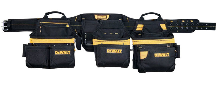 Dewalt Tool Belt for carpenters, most comfortable tool belt. Framing pouches