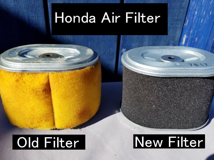 Old Honda Generator Troubleshooting, Air filter replacement