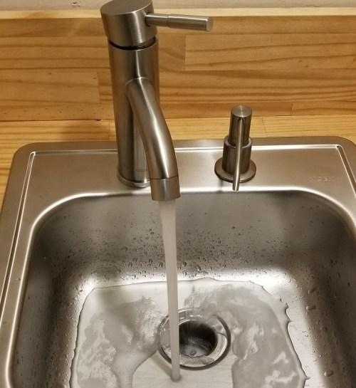 DIY small sink installation for wet bar or bathroom