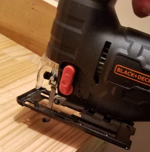 Black and Decker Jig Saw cutting wood
