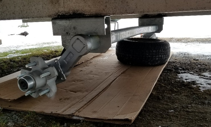 New Snowmobile Trailer Axle, Installation image