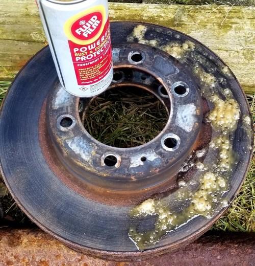 Fluid Film test on metal brake rotor