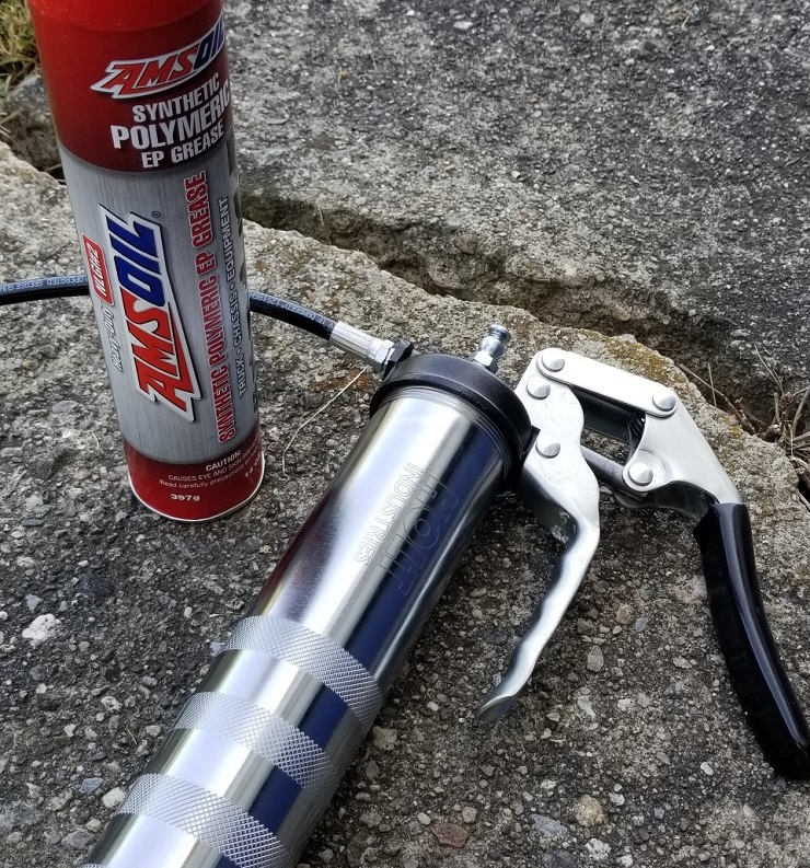 Holt Grease Gun from Harbor Freight with Amsoil Grease