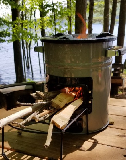 Portable Wood Burning Camp Stove, EcoZoom Fire image