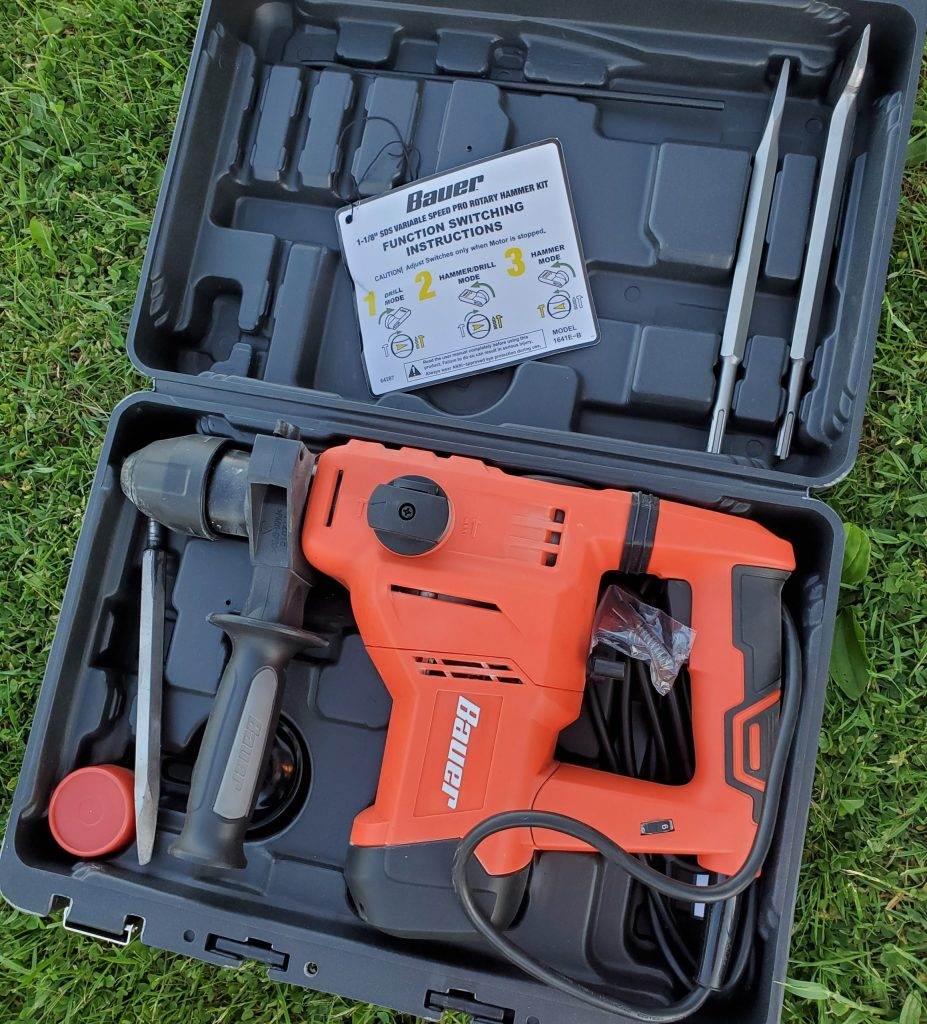 Harbor Freight SDS Rotary Hammer Drill, Bauer 64288 64287