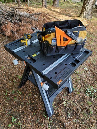 Heavy Duty Folding Construction Table