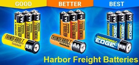 Harbor Freight Batteries Good Better Best, Review