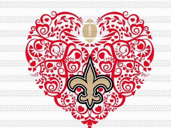 Download Love new orleans saints svg,New Orleans Saints svg,New ...