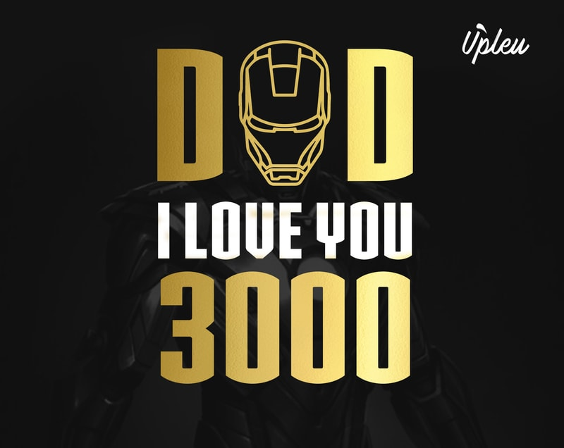 Download Dad, I Love You 3000 2 t-shirt design for commercial use
