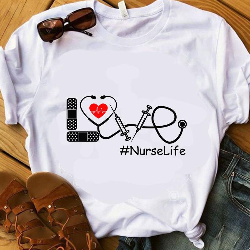 Download Love Nurse Life SVG, Heartbeat SVG, Doctor Headset SVG ...